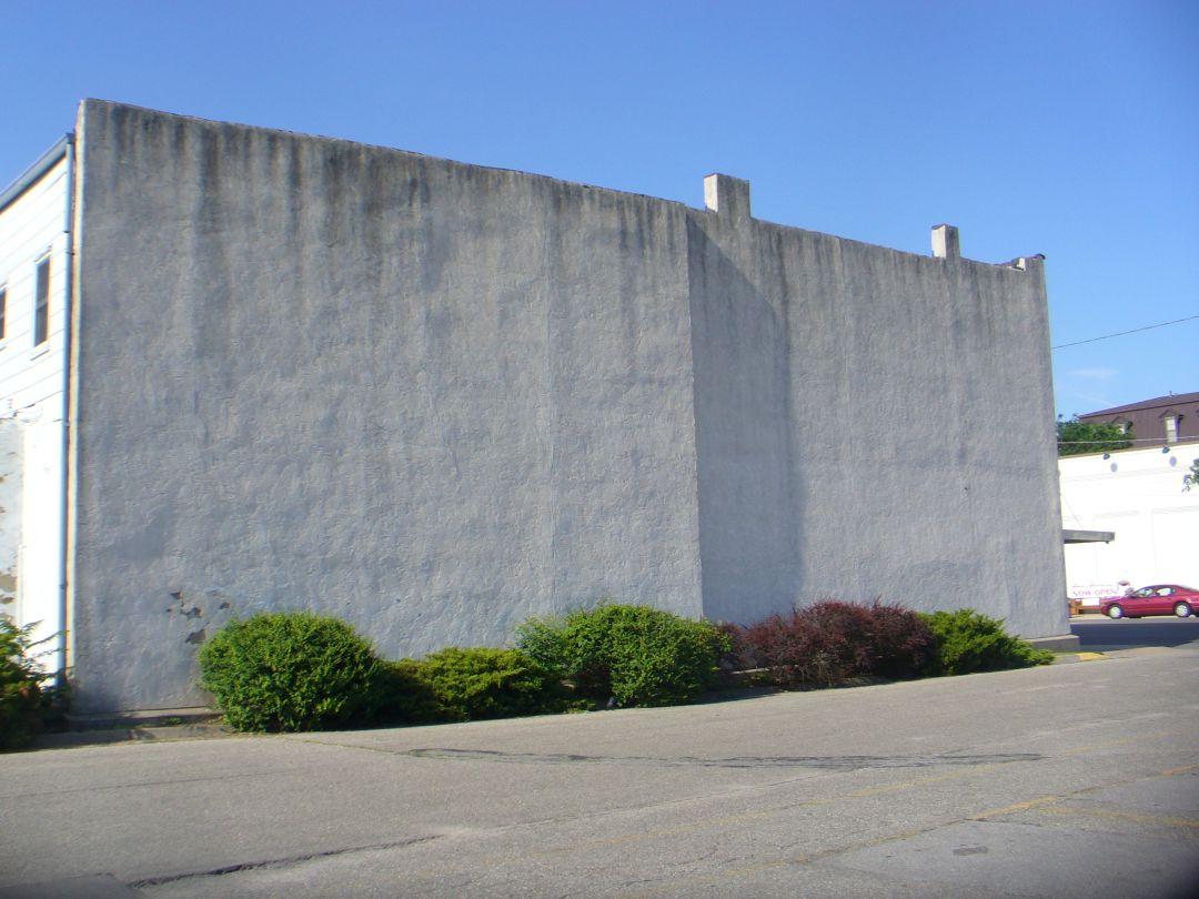 Building Facing Blank Wall