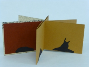 installation view of Slipping Away, 2015, handmade book